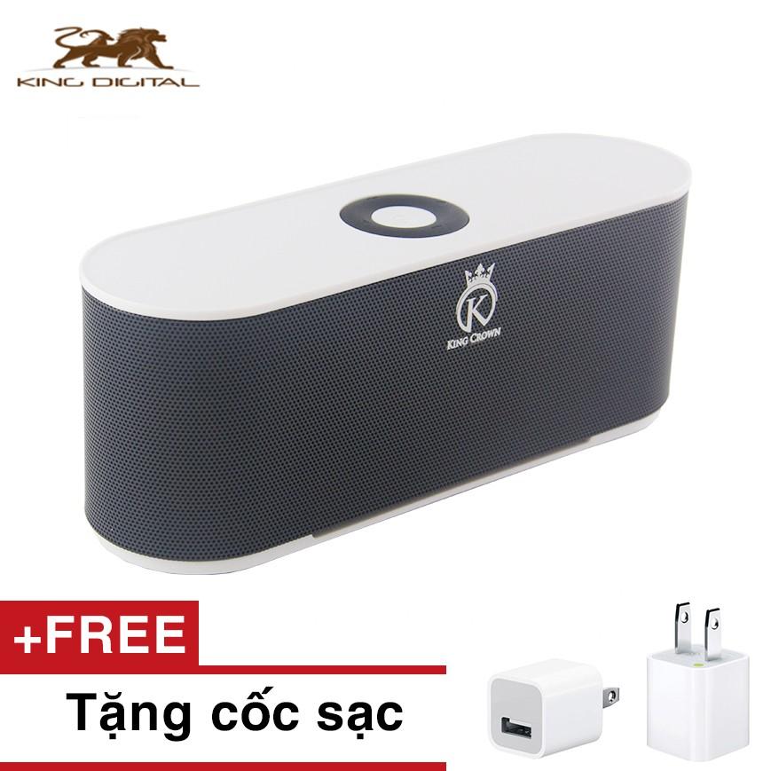 Loa Bluetooth kiêm đài FM cao cáp KING CROWN S207 + cốc sạc