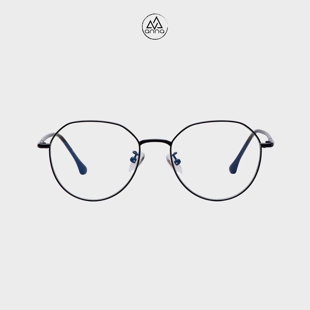 Gọng kính mắt thời trang nữ thiết kế dáng tròn với chất liệu kim loại 250KL037