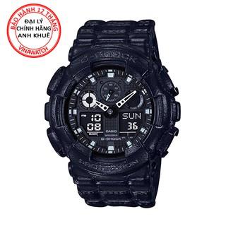 Đồng hồ Nam G-Shock Casio dây nhựa kim-điện tử GA-100BT-1ADR - Chính hãng Casio Anh Khuê thumbnail