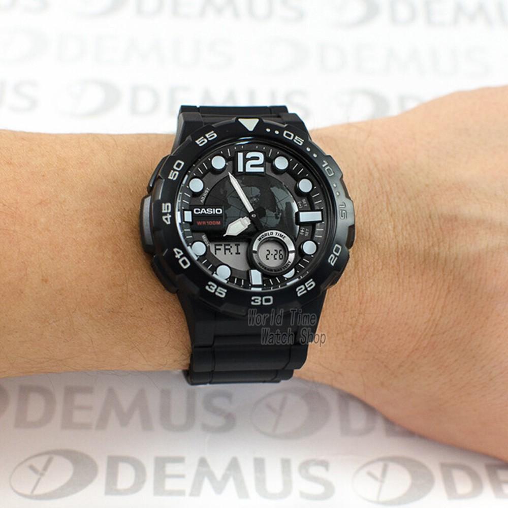 Đồng hồ nam dây nhựa Casio chính hãng Anh Khuê AEQ-100W-1AVDF