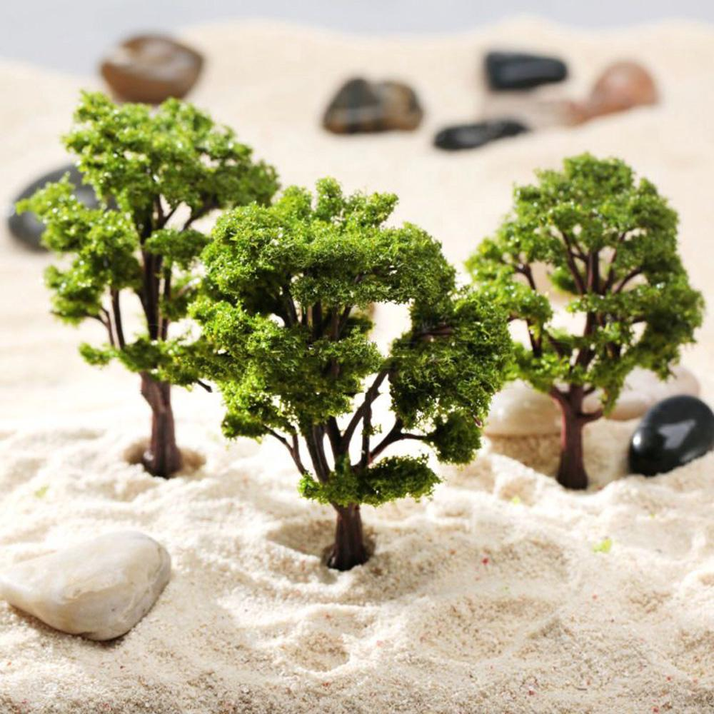 ☽10pcs Model Tree Layout Diorama Wargame Architecture Train Park Garden Scenery