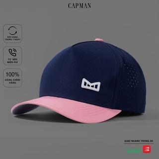 Mũ lưỡi trai chính hãng CAPMAN phom dáng thể thao vải dù màu hồng xanh CM70 thumbnail