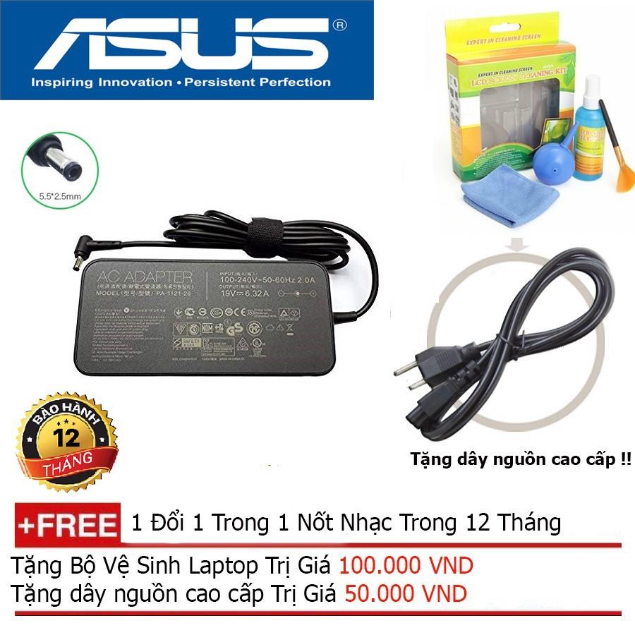 Sạc Laptop Asus 19V 6.32A 120W Slim Hàng Nhập Khẩu + Tặng Dây Nguồn 1,8M, bộ vệ sinh laptop Giá chỉ 522.500₫