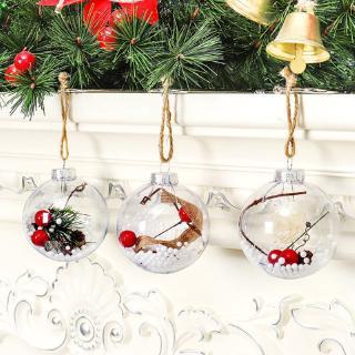 Quả châu trong suốt treo trang trí cây thông Noel
