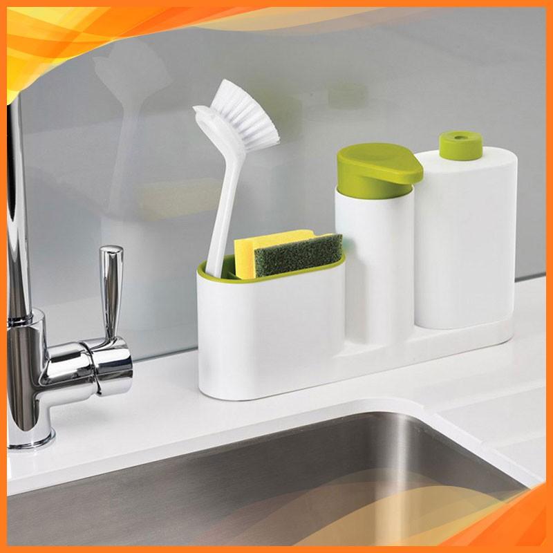 Kệ dụng cụ nhà bếp để đồ rửa bát chén, nước rửa bát chén và rửa tay 3 in 1 Dụng cụ nhà bếp