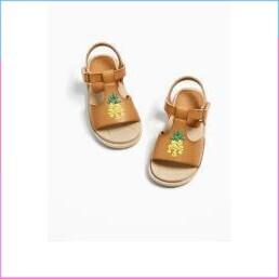 (Hàng chọn lọc)Giày Sandal da thật xuất xịn ZARA CAMBODIA chất siêu nhẹ (Dành cho bé từ 6 tháng - 2 tuổi)