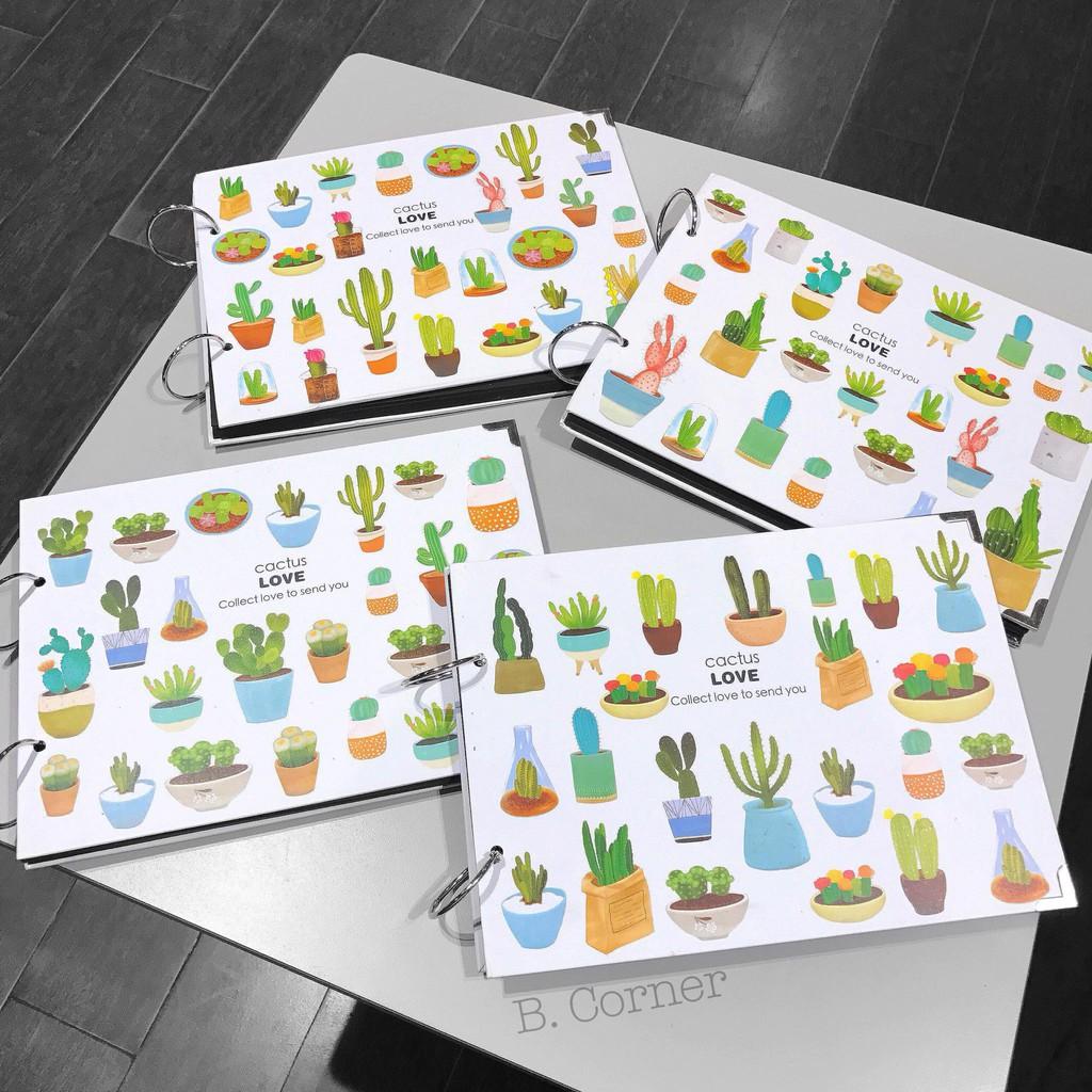 Sổ Album Bìa Cứng Cactus