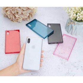Ốp dẻo trong màu hình vuông Dành cho Iphone