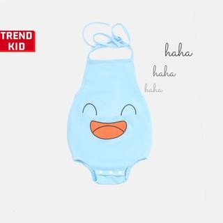 [Mã TREND20 giảm 15% đơn 99K] Yếm đào mặt cười cho bé trai, bé gái, trẻ sơ sinh màu xanh nhạt michley