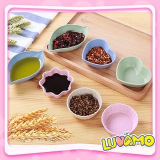 Bát ăn dặm lúa mạch kiểu Nhật mini hình hoa lá xinh xắn dễ thương AD06 thumbnail