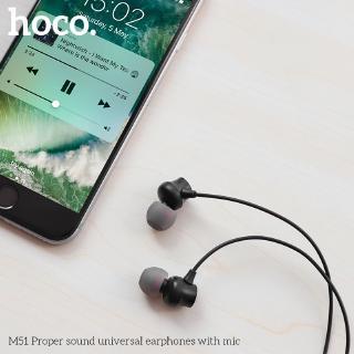 Hình ảnh Hoco M51 Tai nghe dài 1.2M giắc 3.5mm kèm micro phát âm thanh chất lượng cao-5