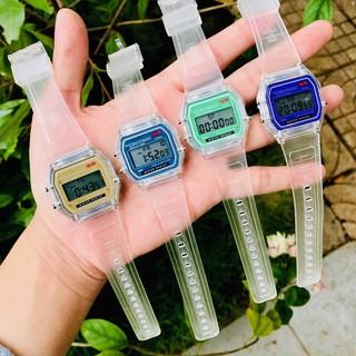 Đồng hồ điện tử nam nữ WR dây nhựa phát sáng có báo thức Gt52