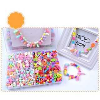 24 Grids Colorful Pop Beads Set Amblyopia Correction Toddlers DIY Jewelry Set