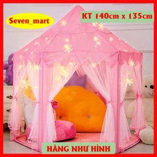 [Đèn Hoa Tuyết 4mét] Lều Công Chúa Cho Bé Kiểu Dáng Hàn Quốc Có Rèm Che – Kích thước chuẩn 1m4 x 1m35