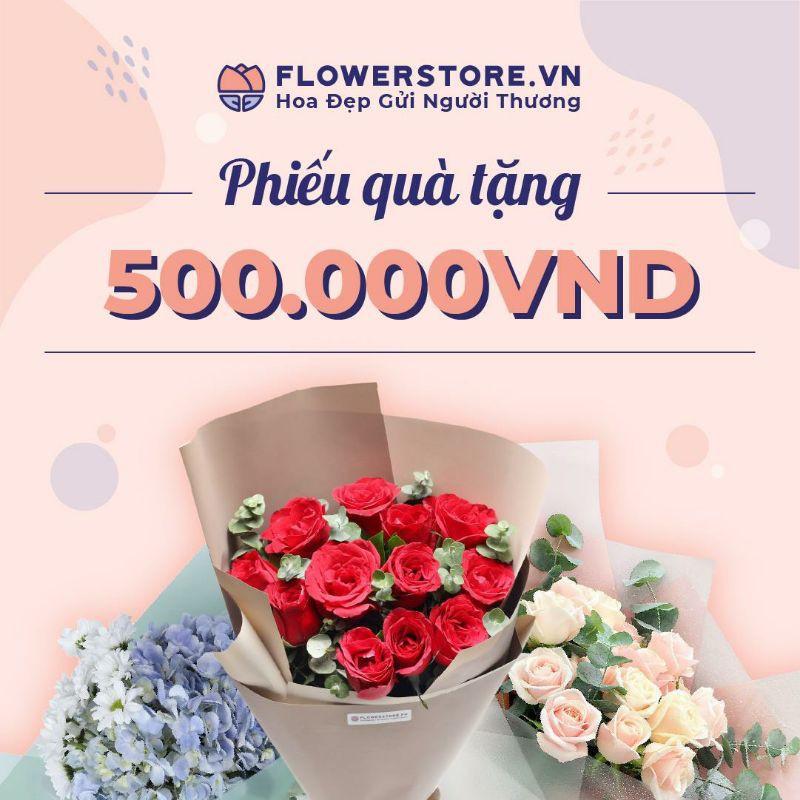 HCM-HN [E-voucher] - Ưu đãi 500K đặt hoa Flowerstore giao ngay trong