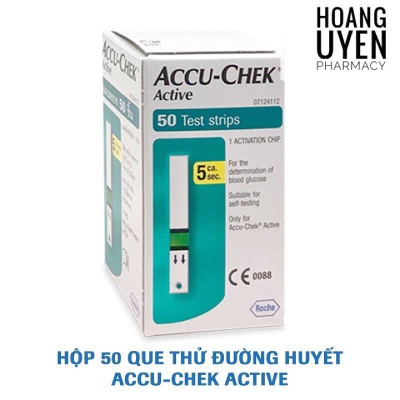 Que thử đường huyết Accuchek Active (Accu-check) - 25 que bán chạy