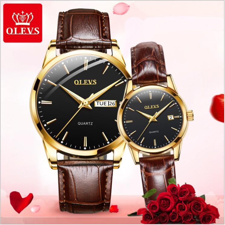 Đồng hồ OLEVS chính hãng cho cặp đôi nam nữ phong cách thời trang trẻ Hàn Quốc