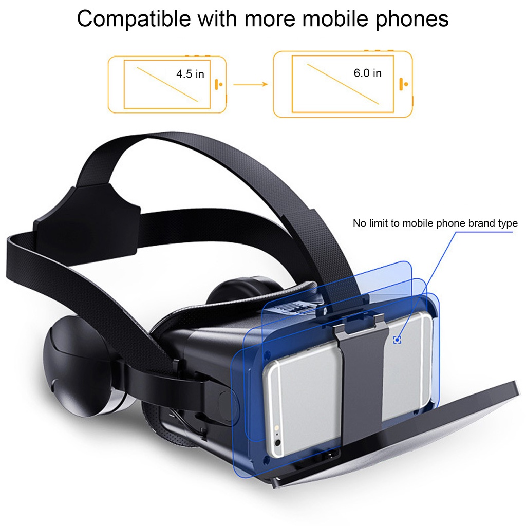 overcharming J20 Intelligent Mobile Phone 3D VR Glasses Goggles for Kids Adults