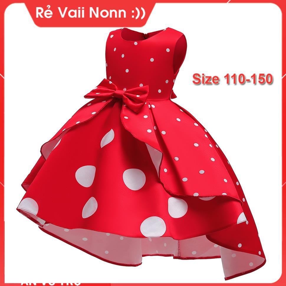 Đầm đuôi cá công chúa bé gái (14kg - 40kg)-Váy đầm công chúa cho bé gái -
