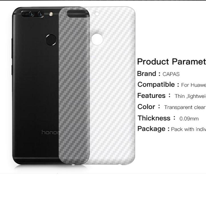 Huawei V9 _ Dán carbon mặt lưng chống trày xướt, chống bám vân tay