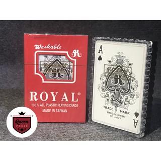 Bài nhựa Poker ROYAL không gẫy gấp, chống nước và đàn hồi tốt B-05