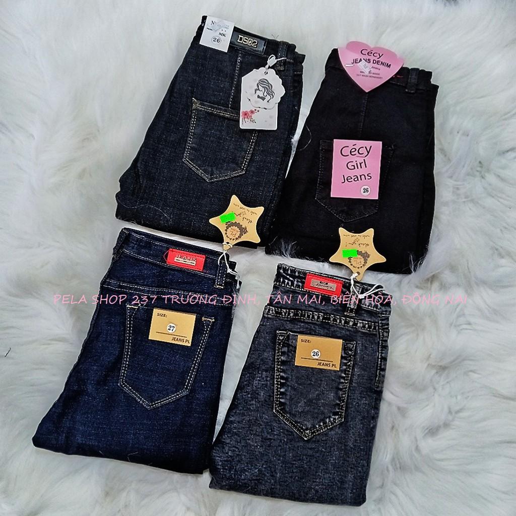 [Mã WASEPRN hoàn 20% xu đơn 99k] quần jean nữ lưng cao CHỤP THẬT PELA SHOP chất giãn tốt 6C