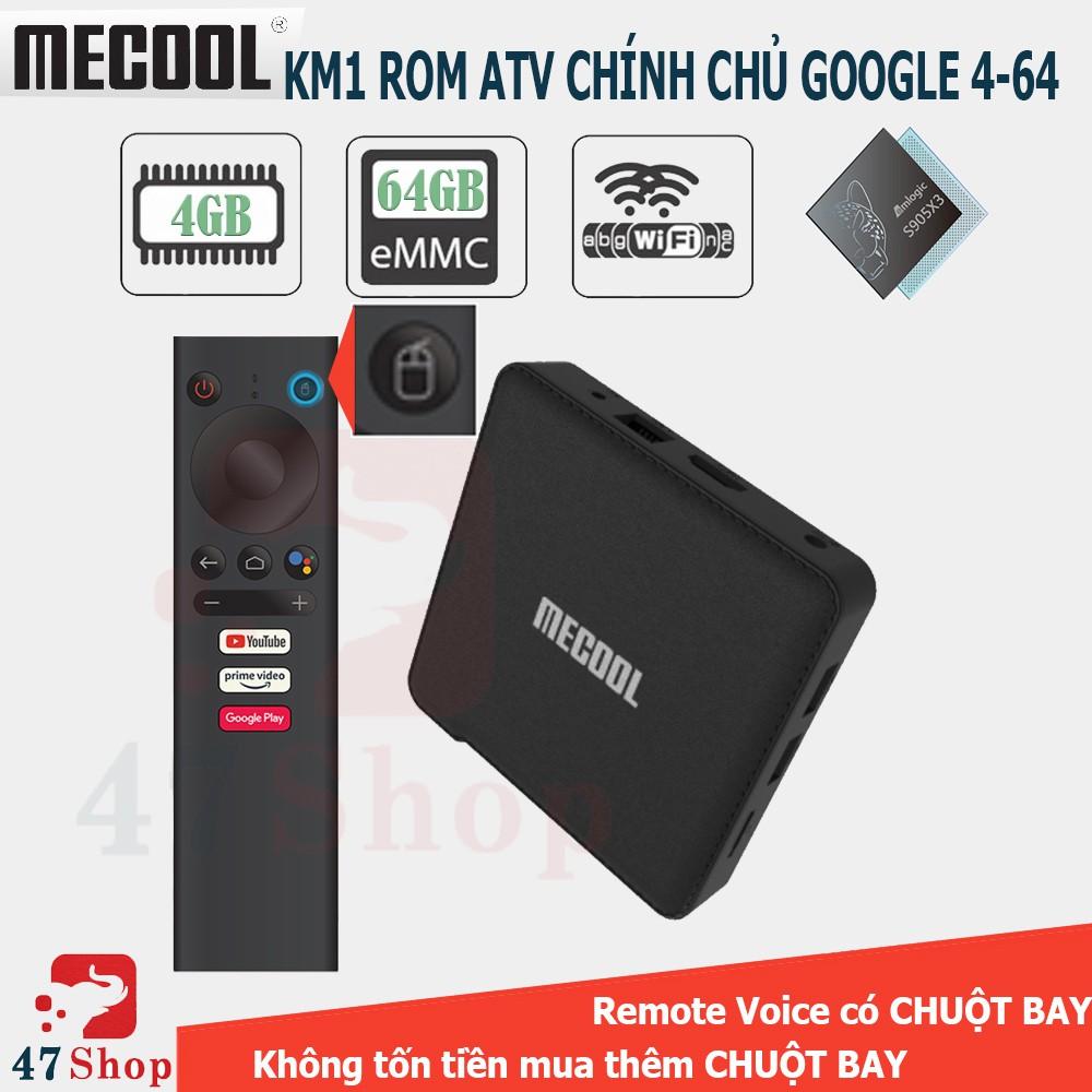 Android TV Box Mecool KM1 - HĐH Android 9 bản quyền, Ram 4GB, Bộ nhớ trong 64GB