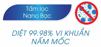 Tấm lọc Nano bạc tích hợp than hoạt tính dành cho quạt 3000M/3000D