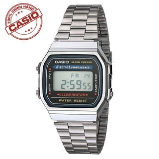 Đồng hồ nam Casio A168WA-1WDF Chính Hãng casio Anh Khuê - có tem chống hàng giả thumbnail