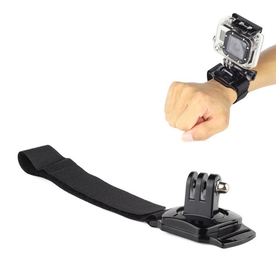 Dây đeo cổ tay xoay 360 độ cho camera hành trình gopro sjcam, eken, xiaomi,  4k wifi, action camera