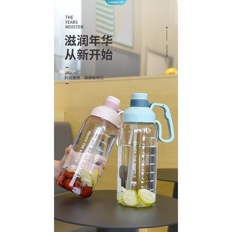 Bình nước thể thao bằng nhựa cỡ lớn có ống hút tiện dụng cho bé