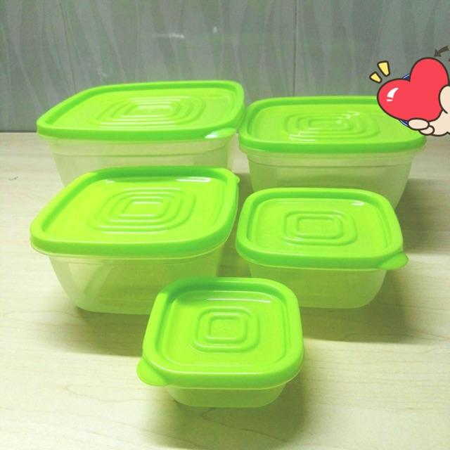 Bộ hộp nhựa 5 món