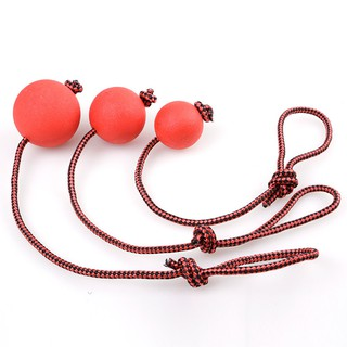 Rubber Hot For Rope Training Play Ball Puppy Pet Toy