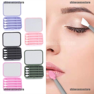 {shinesensestore}Reusable Eye Shadow & Lip Brush Silicone Recycling For Cleaning Makeup