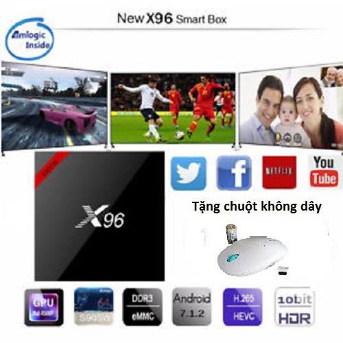 Android TiVi Box X96 W Phiên bản nâng cấp X96Mini - Chính hãng Enybox tặng chuột không dây
