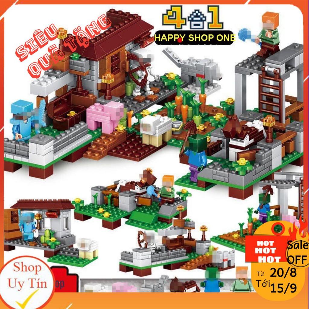 Lego Minecraft – Trang Trại Nhỏ Của Bé [300 CT]
