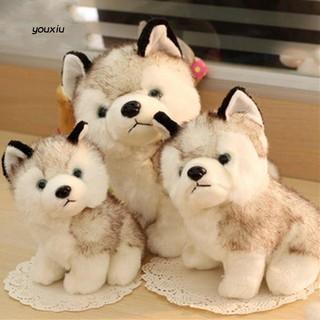 Chó Husky nhồi bông trang trí dễ thương