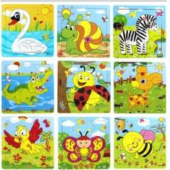 [Kid's Toy] Đồ chơi tranh ghép gỗ 9 miếng hình động vật cho bé [Giá lẻ rẻ như giá buôn]