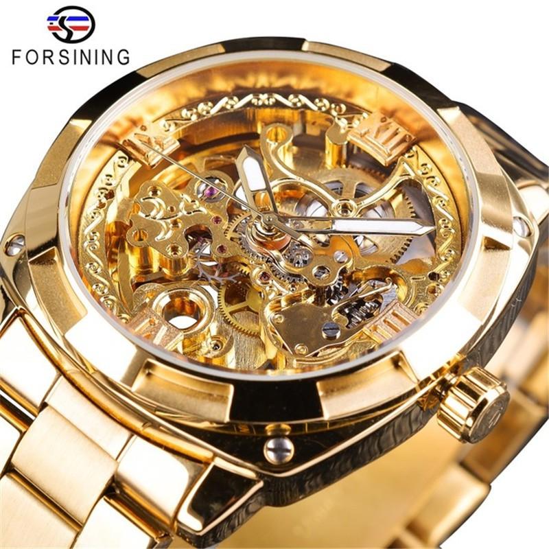 Đồng hồ cơ nam lộ máy Forsining H207M lộ máy thời trang độc đáo