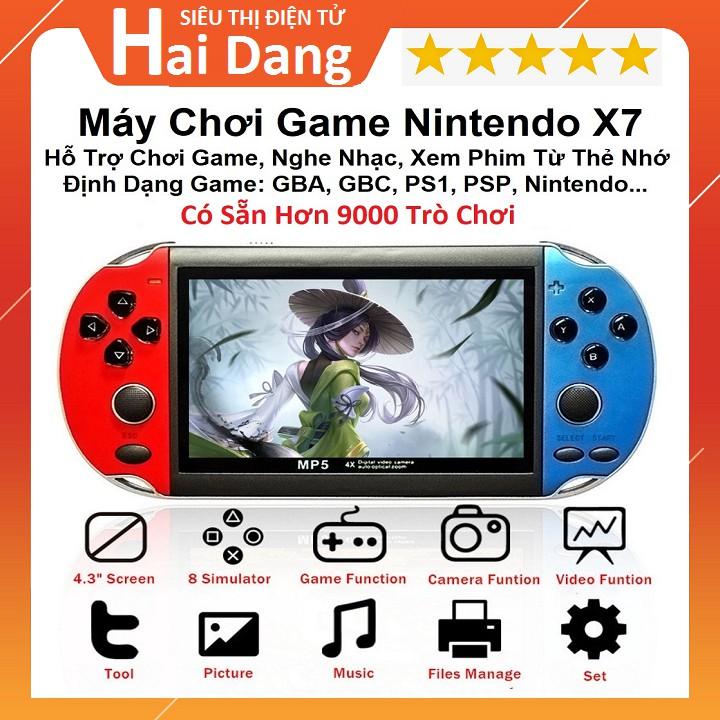 Máy Chơi Game, Cài Sẵn 9000 Trò Chơi GBA, SNES, GBC, PS1, PSP, Nitendo, X7 Mini – Chơi Game, Xem Phim – Tiếng Việt