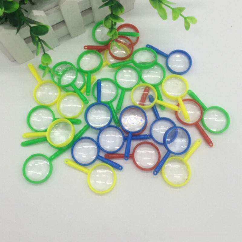 Plastic Mini Magnifying Glass Kids Child Outdoor Exploring Toys Props