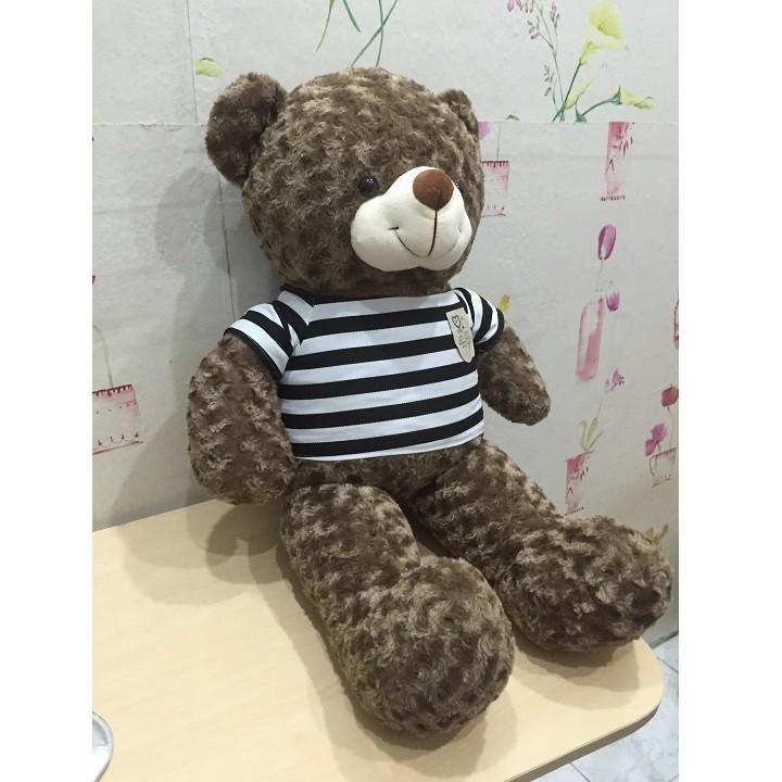 Gấu bông Teddy khổ 1m màu khói