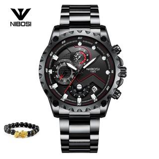 [Tặng vòng tay]Đồng hồ nam NIBOSI chính hãng NI2322.04 dây thép không gỉ thumbnail