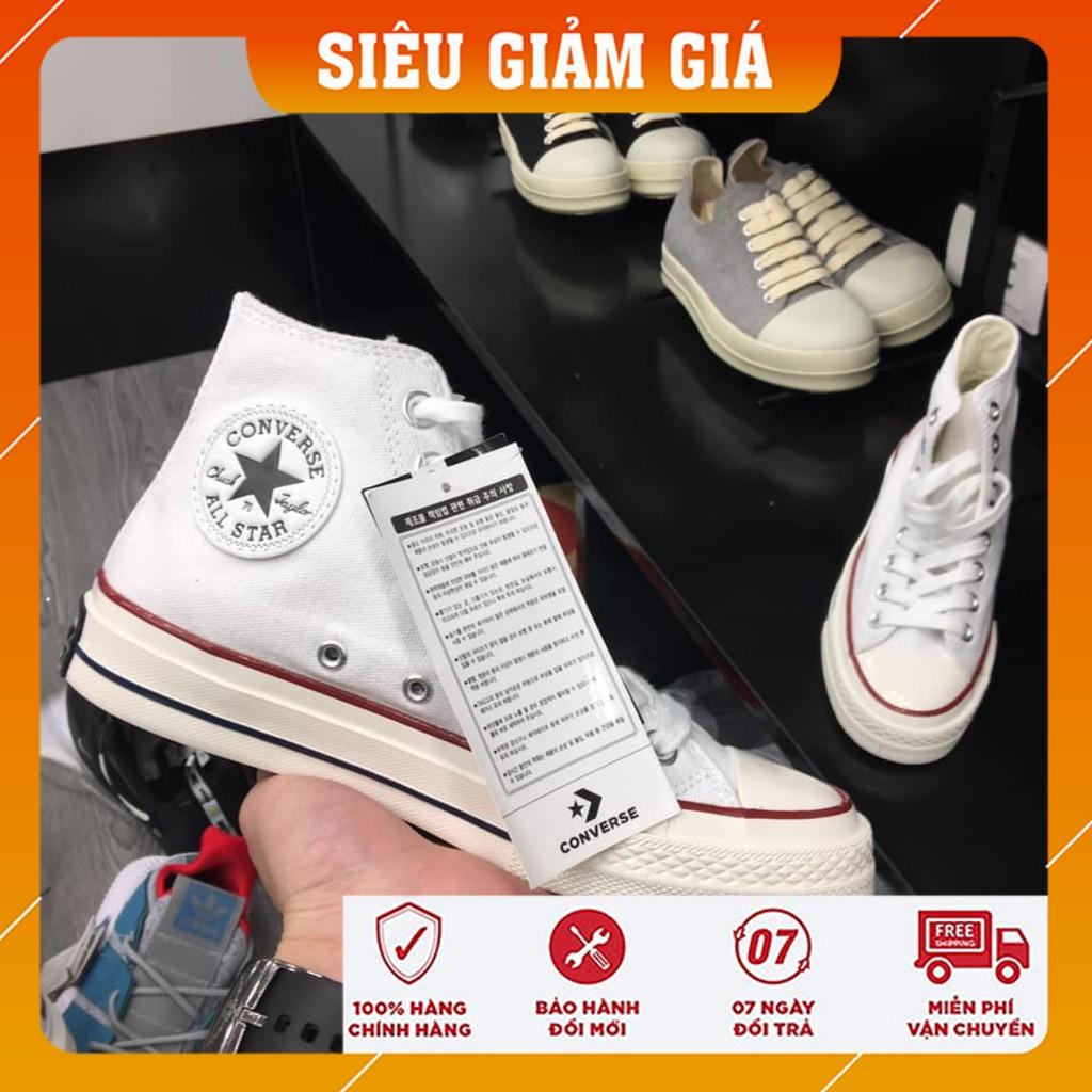 [Free ship ] Giày Thể Thao Sneaker Cv Trắng Cổ cao 1.1