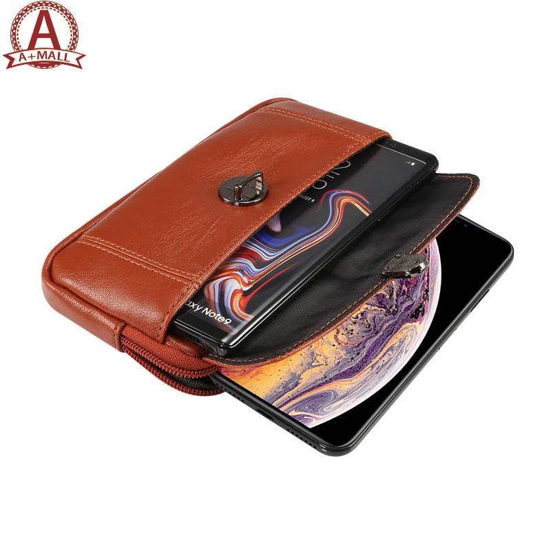 🎁 6.5Inch For Apple XS MAX Belt Phone Bag Waist Bag Zipper Holster Wear Belt 🎊