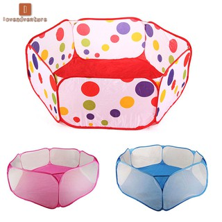 LV△ New Children Folding Ocean Balls Pit Holder Portable Outdoor Indoor Fun Play Toy Tent House Hut