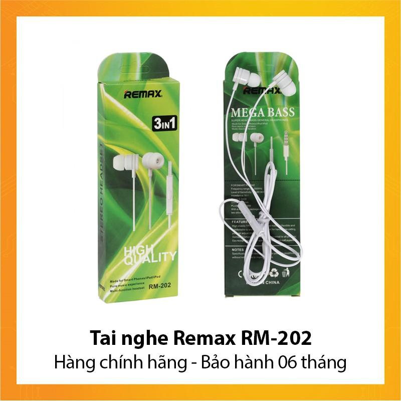 Tai nghe Remax RM-202 - Hàng chính hãng - Bảo hành 6 tháng