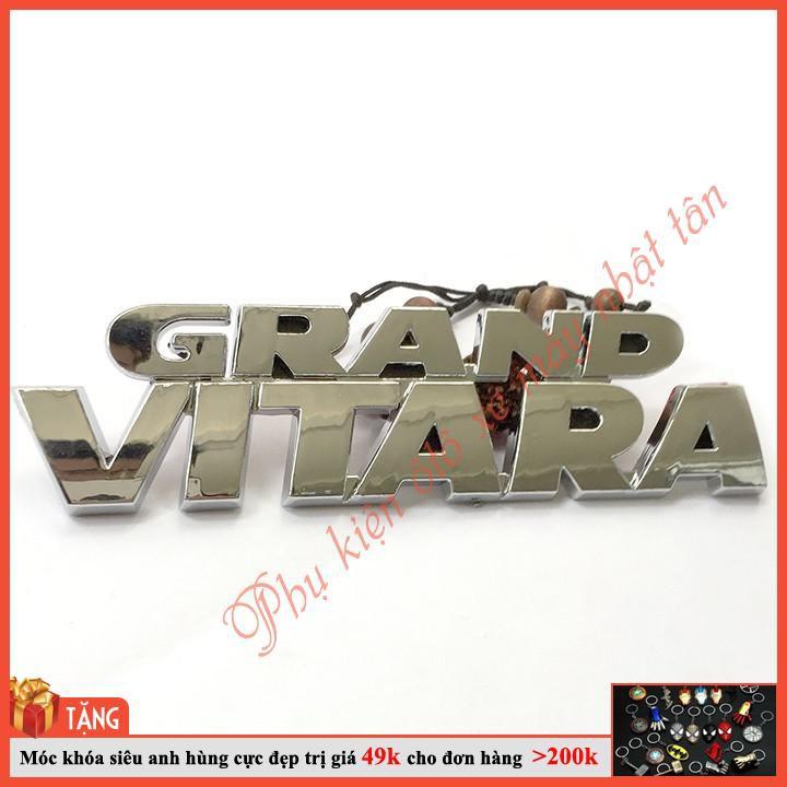 [HOT TREND] Tem Logo Nổi GRAND VITARA Dán Trang Trí Xe