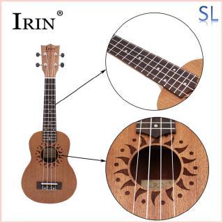 21inch Ukulele Sapele Wood Flower Sound Hole 15 Fret Four Strings Guitar+Bag+String+Capo+Strap