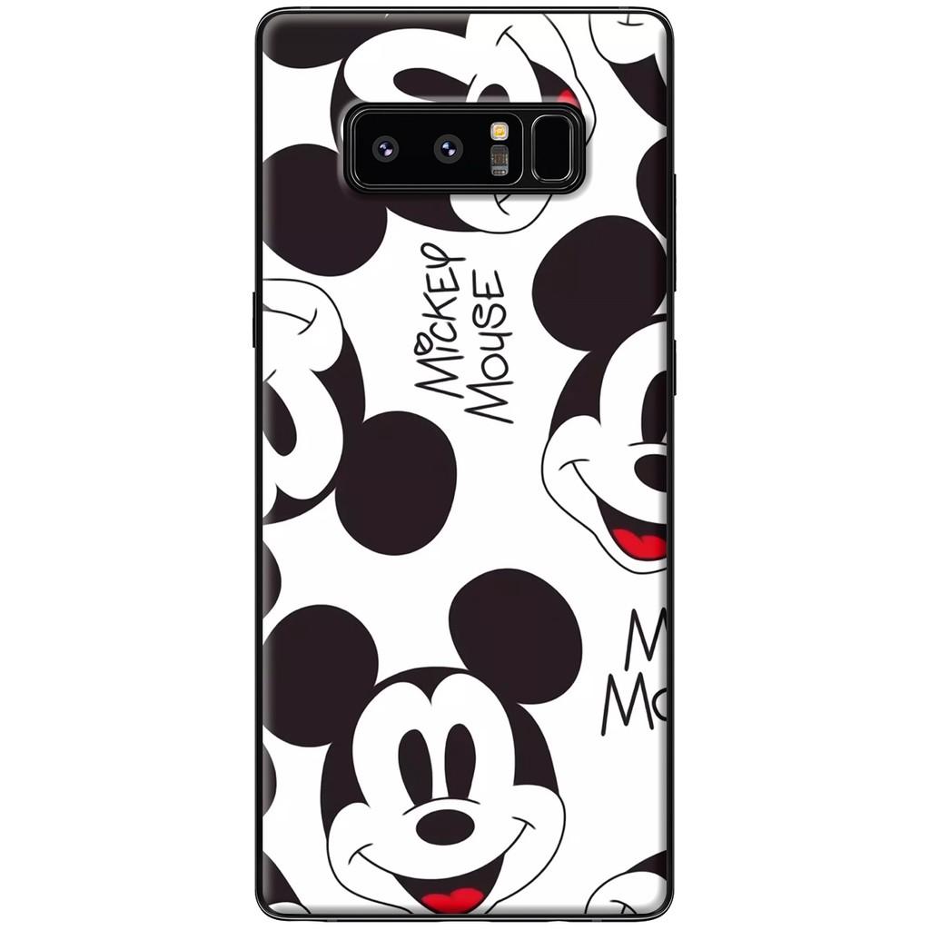 Ốp lưng Samsung Note 8 - Nhựa dẻo Chuột đen trắng